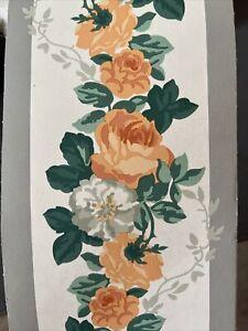 Laura Ashley Vintage Wallpaper Border - Isabelle Apricot 30m - New