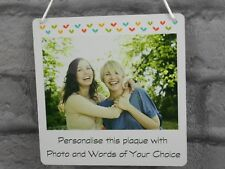 Photo Plaque Best Friend Frame Personalised Any Text quote Metal Mini Sign Gift