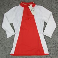 Adidas Stella McCartney Active Red Court Tee Long sleeve Tennis Shirt EA3130 Sm