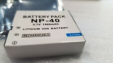 8x Lot of Li-ion Battery pack NP-40 1500mAh free shipping