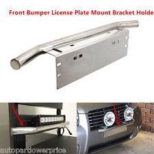 Silver Bull Bar Style Bumper License Plate Mount Bracket Holder For Work Lights
