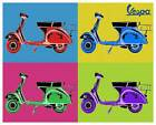 VESPA Vintage Pop Art QUALITY CANVAS PRINT Retro Scooter Poster A - 32x24 A1