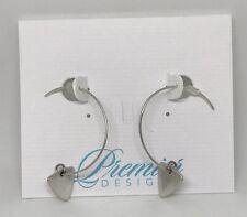 Premier Designs Jewelry SLOANE Earrings 31058 Silver French Hoop Antiqued Box