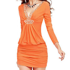 Regular Solid Stretch, Bodycon Clubwear Dresses for Women