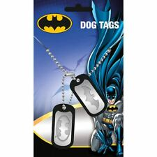DC Batman Classic Bat Logo Dog Tag Pendant Necklace - Double Justice League