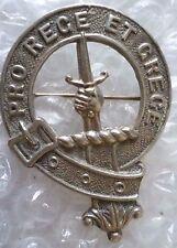 Badge- Vintage Scottish Clan brooch Badge - marked MADE IN GT BRITAIN