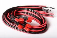 10 LED ROJO FOGGY DIFFUSED 5mm CABLEADA 30cm CON RESISTENCIA 12v CON CABLE A1C9