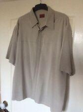 Burton Cream/Beige/Natural Short Sleeved Smart Shirt Size XL
