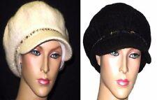 Bonnets noir pour femme en 100% laine