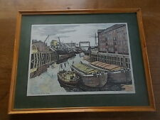 Artist Signed Line Drawing Shipping on the River Hull Julian Johnson Signature