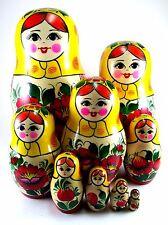 Nesting Dolls Russian Matryoshka Traditional Babushka Stacking Toy set 9 pcs 8in