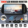 7'' LCD Mirror Monitor Night Vision Reversing Camera Wireless Car Rear View
