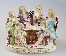 Porzellanfigur Figurengruppe Porzellan Kartenspiel  H:16,5