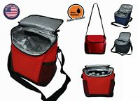 Large Insulated Lunch Bag Box Reusable Roomy Compartments Cooler Containers Bags