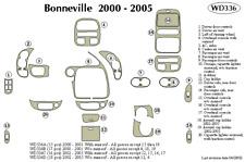 PONTIAC BONNEVILLE 2002 2003 2004 2005 DASH TRIM KIT d