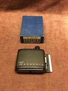 Graflex 22 Graphic 120 Roll Film Holder 2x3 With Original Box!