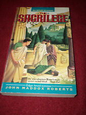 The Sacrilege : An SPQR Mystery by John Maddox Roberts (1992, Pb) SIGNED first