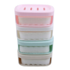 Box Storage Double Layer Home Bathroom Soap Dish Case Holder Container Organizer