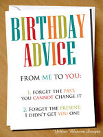 Funny Wife Mum Dad Birthday Card Female Male Friend Sister Brother Husband Rude
