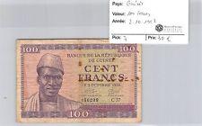 BILLET GUINÉE - 100 FRANCS 2.10.1958