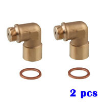 M18X1.5 O2 Oxygen Sensor Extender 90Degree Angled Bung Extension Spacer Brass