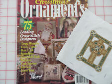 Just Cross Stitch Christmas Ornaments Mag + Completed Cross Stitch Celtic Cross