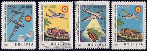 1962 Bolivia SC# C241-C244 - F - Planes and Parachutes - Used