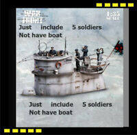 1/35 German Submarine Crew WWII Historical Resin model kit 5 x figures