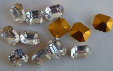12 Vintage Swarovski Octagon Crystal Clear Atr176/I TTC Foiled PB Austria J2-3C