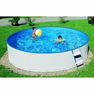 Pool-Set komplett Schwimmbecken rund 3,60 m mit Filteranlage und Leiter Rundpool