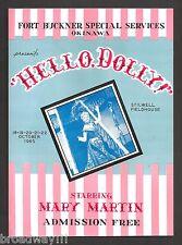 """Mary Martin """"HELLO DOLLY"""" Jerry Herman / Okinawa, Japan 1965 Program and Reviews"""