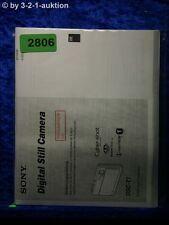 Sony Bedienungsanleitung DSC T1 Digital Still Camera (#2806)