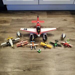 Lot Of 7 Disney Pixar Cars Planes Diecast & Plastic Vehicles Airplane Set