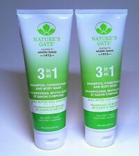 NATURE'S GATE 3 IN 1 SHAMPOO CONDITIONER AND BODY WASH SHEA BUTTER MINT SCENT