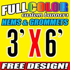 3' x 6' Full Color Custom Printed Banner, 16oz Vinyl - 914 x 1829 { MM ]