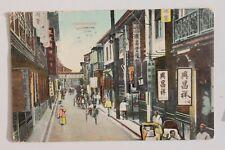 29275 PC Shanghai Honanroad 1910 with US stamp AK Shanghai Stempel Kronprinz W.
