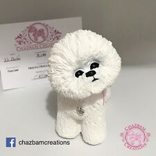 """More details for bichon frise ornament gift limited edition. """"sweetie"""""""