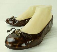 Etienne Aigner Wos Shoes KADISHA US 6 M Brown Black Vegan Slip-on Flats Bow 5370