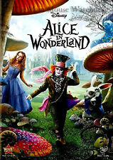 Burton Johnny Depp Live Action Alice in Wonderland DVD English French Spanish