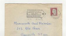 France 1 timbre sur lettre 1960 tampon Paris flamme Croix-Rouge  /L344