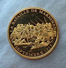 """FRANCE MEDAILLE """" LA BATAILLE de MARIGNAN SEPTEMBRE 1515 """" HISTOIRE de FRANCE -"""