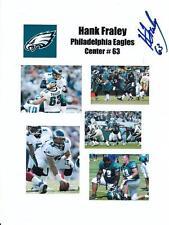 HANK FRALEY Autographed Signed 8.5x11 Photo Collage Philadelphia Eagles COA