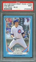 2014 bowman draft picks top prospects blue #tp62 KRIS BRYANT cubs rookie PSA 9
