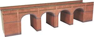 Metcalfe PN140 Red Brick 4 Arch Viaduct Die Cut Card Kit N Gauge - 2nd post