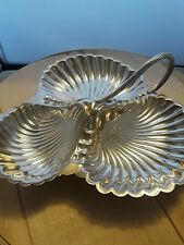 Vintage Hallmarked William Hutton & Sons Leaf Grape Dish Tray Bowl Silverplate