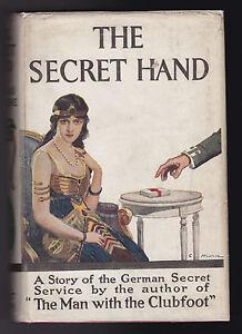 Douglas Valentine - The Secret Hand - 1st/1st 1919, Original Jacket - Williams