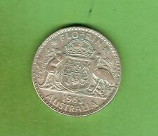 1963  AUSTRALIAN SILVER FLORIN TWO SHILLING COIN