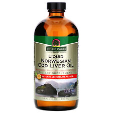 Liquid Norwegian Cod Liver Oil, Natural Lemon-Lime Flavor, 16 fl oz (480 ml)