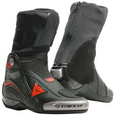 Dainese Axial D1 Black Red Fluo Sport Racing Motorcycle Boots - Free Shipping