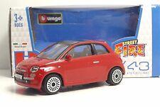 "Bburago 30000 FIAT Nuova 500 ""Rossa""  METAL Scala 1:43"